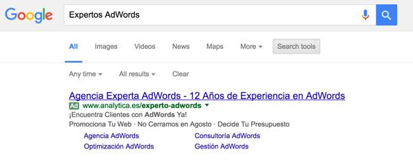 Anuncio AdWords