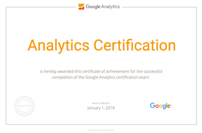 Analytics Individual Certification Diploma